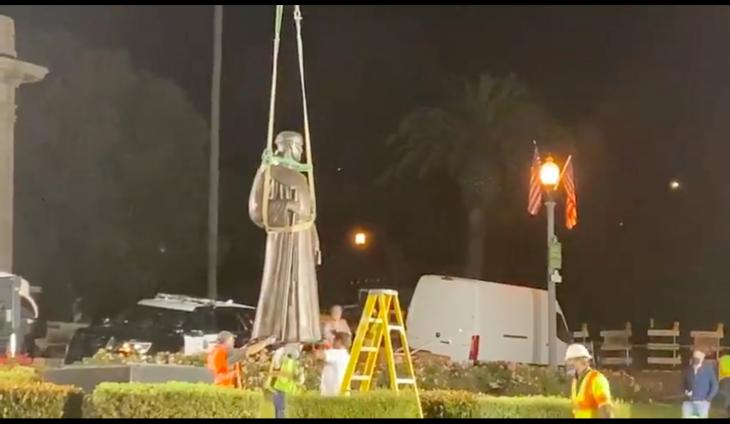 Father Serra Statue Removed From In Front Of Ventura City Hall